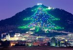 The world's largest Christmas tree display rises up the slopes of Monte Ingino outside of Gubbio, in Italy's Umbria region. Composed of about 500 lights connected by 40,000 feet of wire, the 'tree' is a modern marvel for an ancient city.