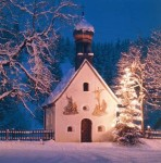 'Oh Christmas tree, oh Christmas tree': Even in its humblest attire, aglow beside a tiny chapel in Germany's Karwendel mountains, a Christmas tree is a wondrous sight.