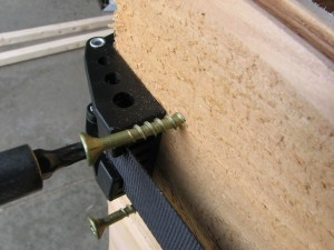 "Use two 3/4"" decking screws to secure each corner"