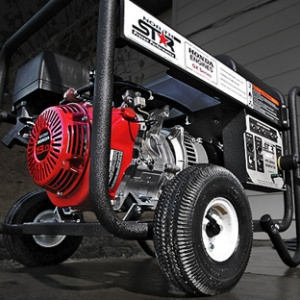 Photo of a gas-powered portable generator